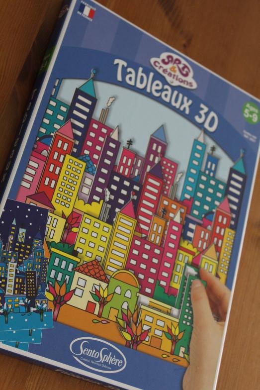 sentosphere-tableau-3D-immeuble-ville-new-york-city-batiment-construction-collage-adhésif-couleur-activités-enfant