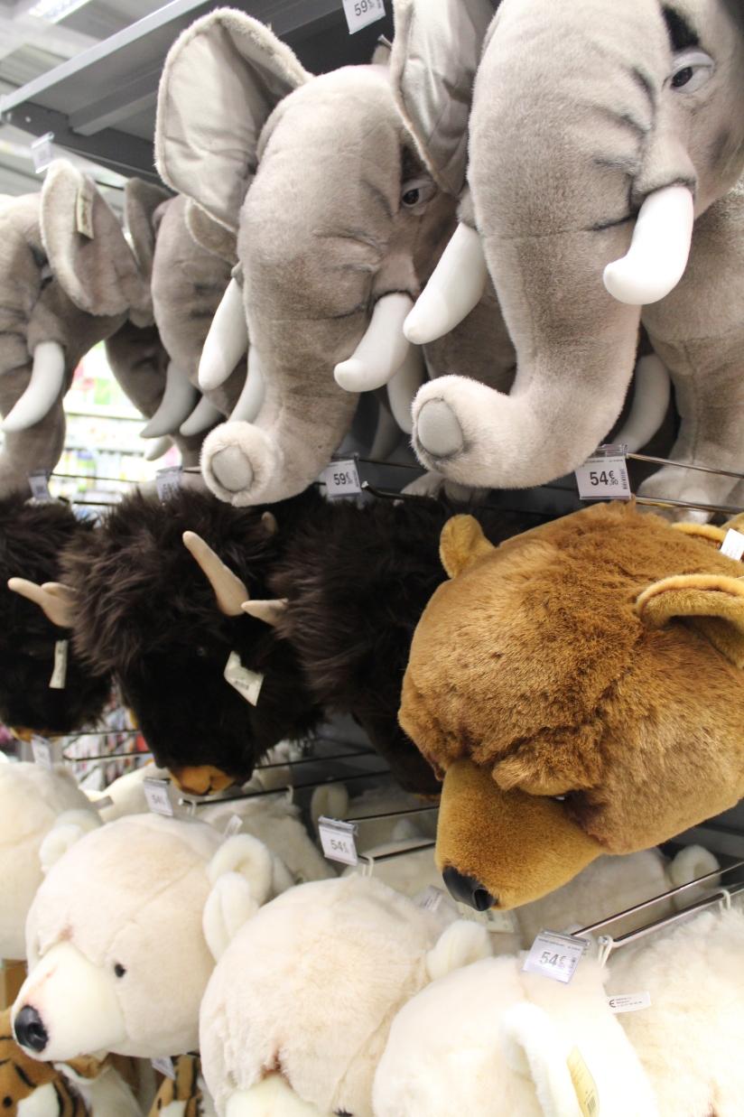 zodio-bordeaux-bègles-décoration-magasin-maison-chambre-enfant-tête-trophée-animaux-peluche-doudou