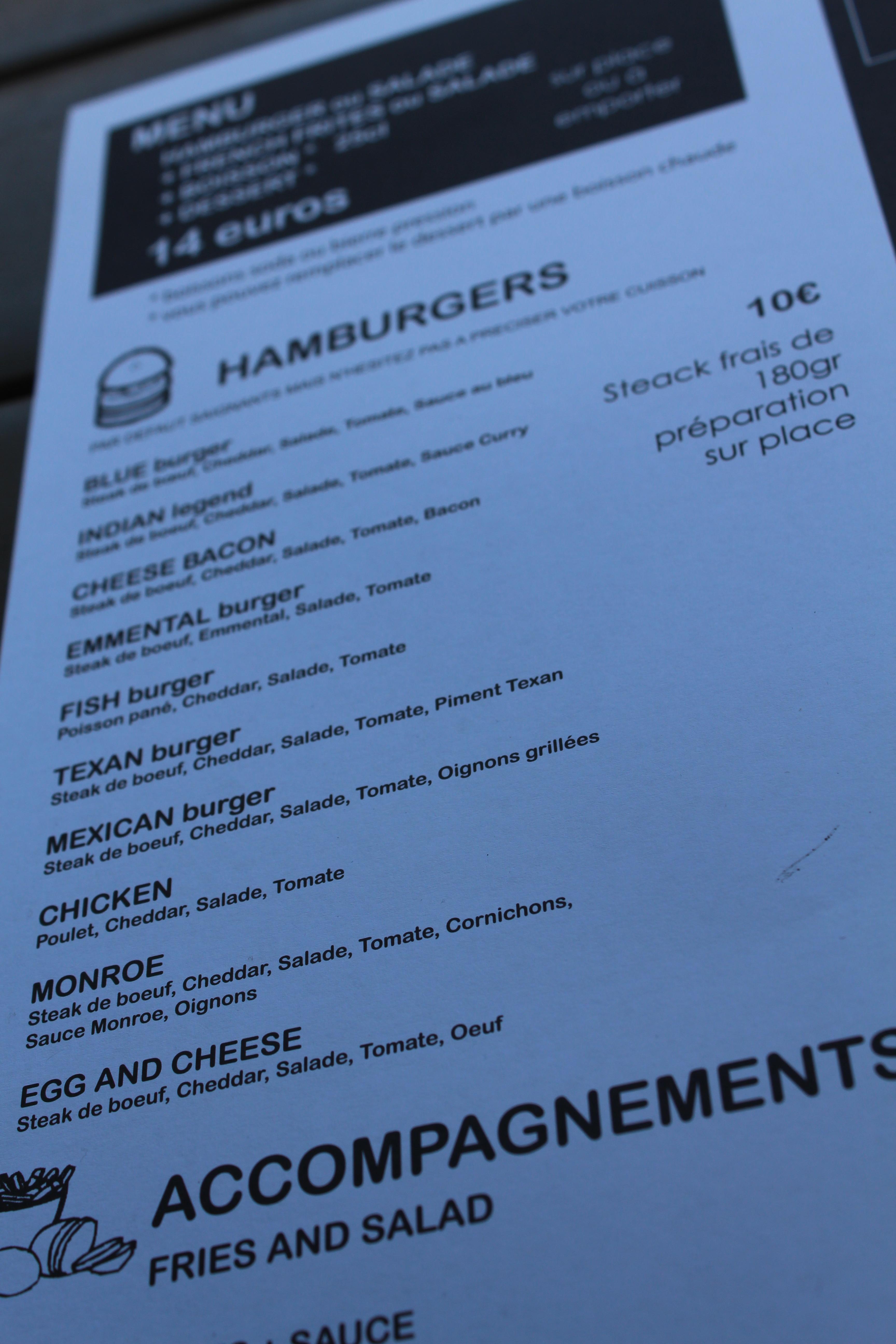 French burgers les hamburgers fait maison sur le quai des marques bordeaux - Fait maison en anglais ...