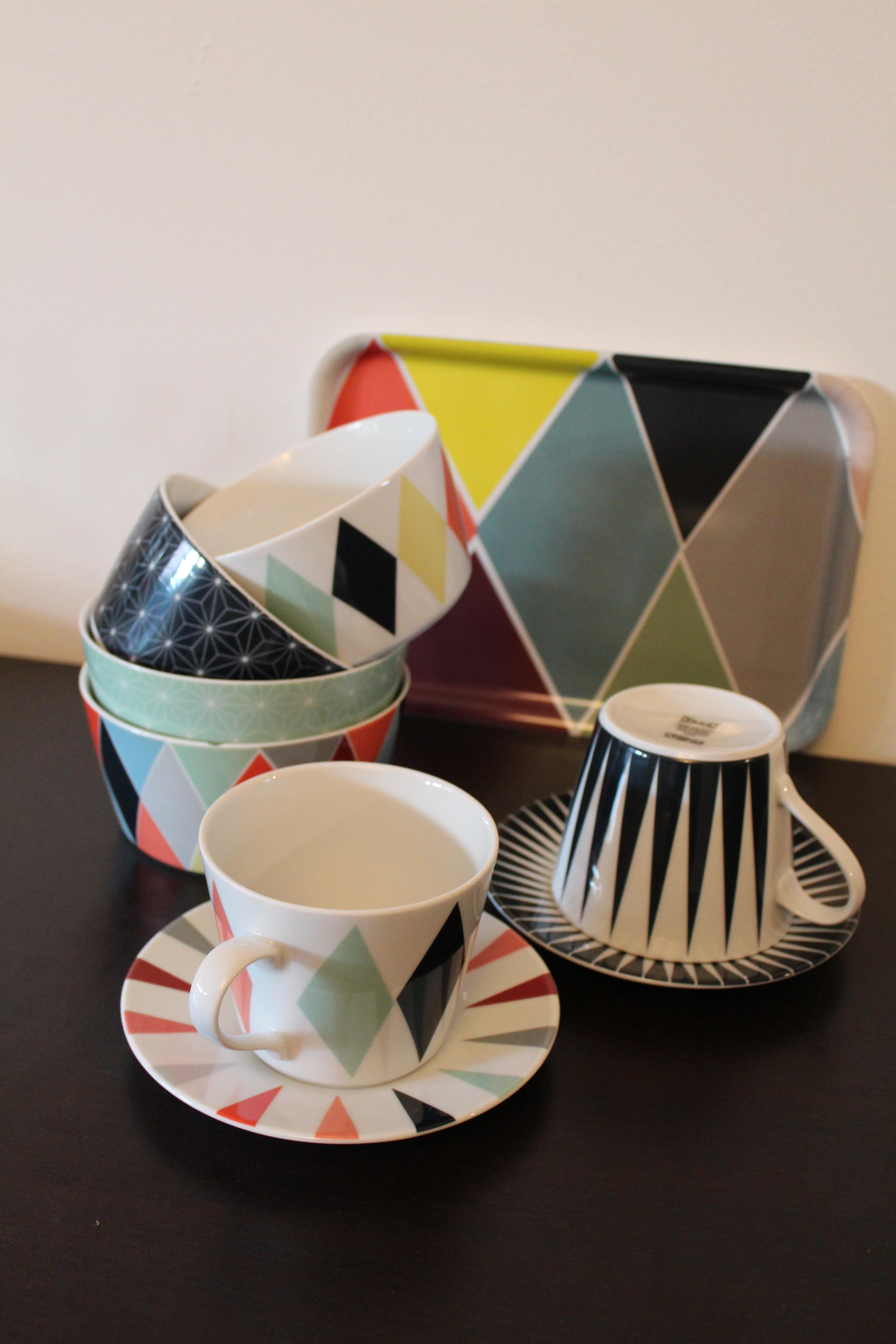 Ikea collection caspule dition limit e brakig 2014 des losanges color s p - Papier peint ikea brakig ...