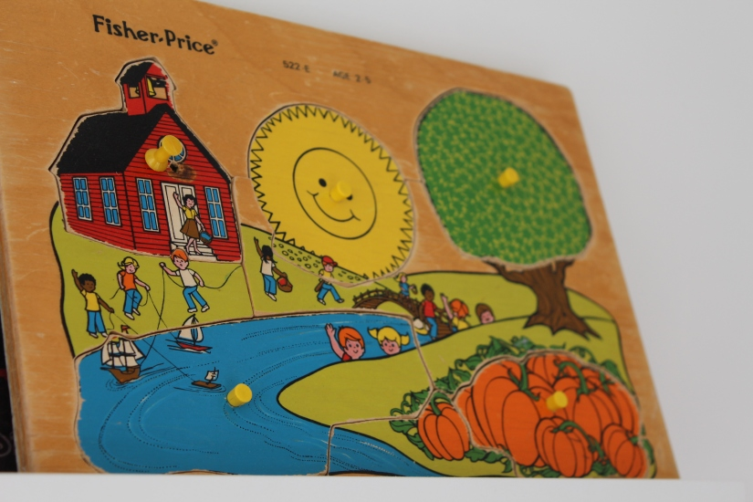 puzzle-bois-vintage-fisher-price-enfant-années-80