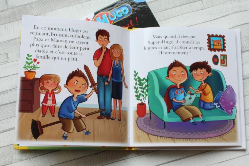 fleurus-super-hugo-livre-album-jeunesse-enfant-betise-sage-garçon-ecole-douleur-turbulent-illustration
