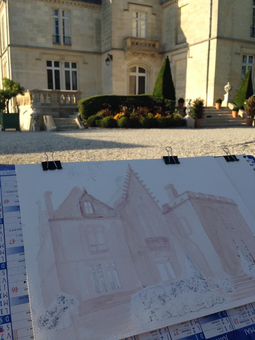 lezard-creatif-bordeaux-pessac-centre-ville-art-peinture-vin-aquarelle-atelier-seance-chateau-pape-clement-merlot-esquisse-tableau-technique-decouverte-degustation-3