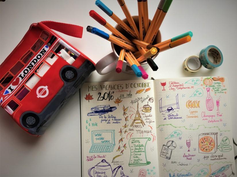 bujo-bullet-journal-carnet-dessin-agenda-organisation-creation-envie-stabilo-giotto-doodle-2