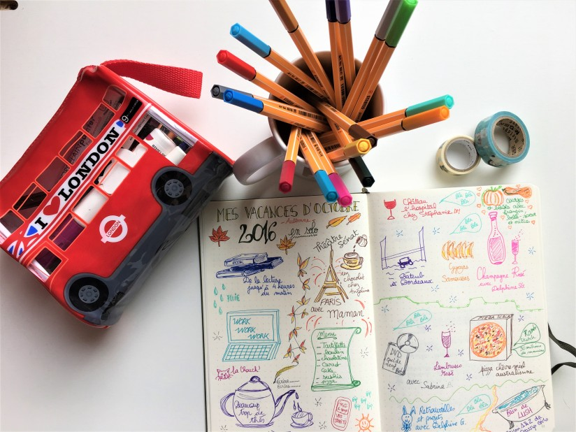 bujo-bullet-journal-carnet-dessin-agenda-organisation-creation-envie-stabilo-giotto-doodle